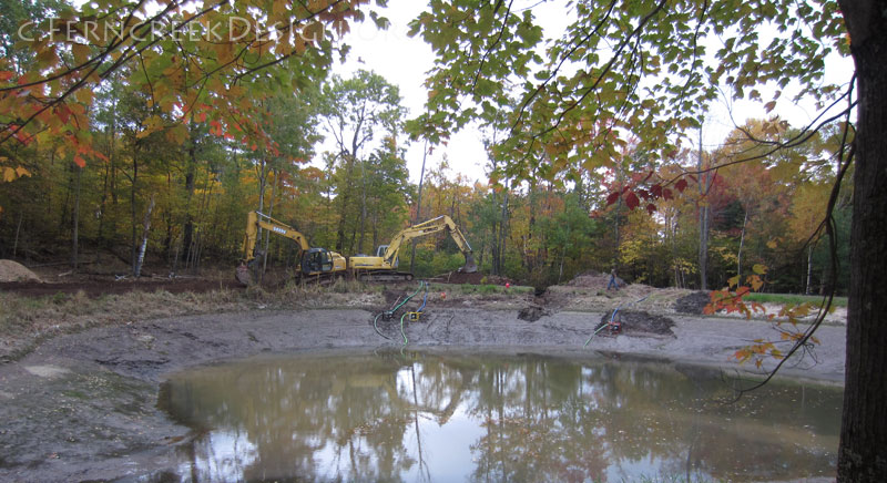 Pond construction building repair and maintenance in for Large pond maintenance